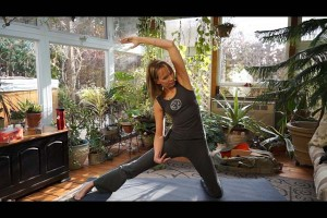 beginner yoga triangle pose episode 156 of namaste yoga