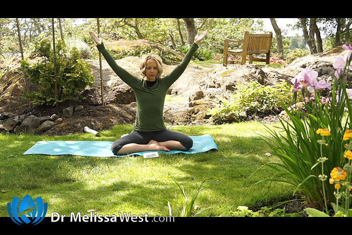 yoga with dr melissa west 231 yoga for hips and shoulders 50 min yoga class samadhi the. Black Bedroom Furniture Sets. Home Design Ideas