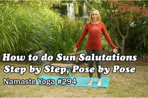 Post image for Beginner Yoga How to do Sun Salutations Step by Step, Pose by Pose, Yoga with Melissa 294