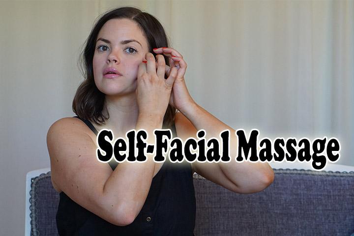 Self facial massage one