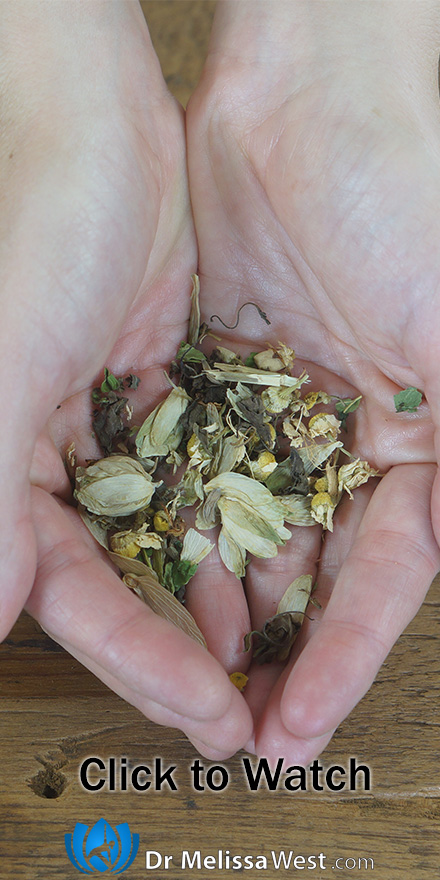 Herbal tea for anxiety and stress