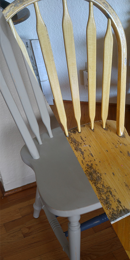 Chalk Painting a Kitchen Table and Chairs